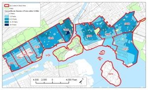Measuring park access in the South Bronx and Upper East Side