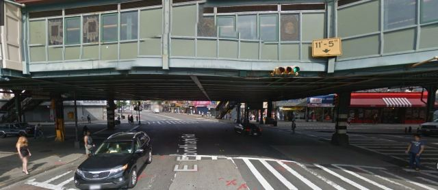 Jerome Ave and Fordham Road in the Bronx, the intersection with the highest number of injuries in our study.